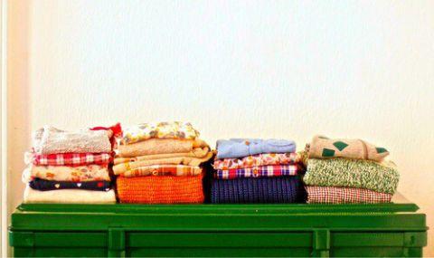 服の畳み方